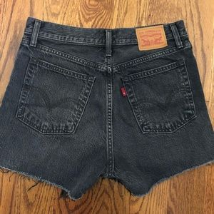 Levi's wedgie high waisted shorts